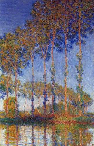 Monet - Poplars in the Epte, sunset