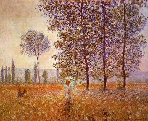 Monet - Poplars in the sunlight