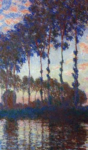 Monet - Poplars, sunset