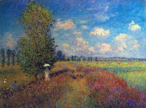 Monet - Poppy Field in Summer