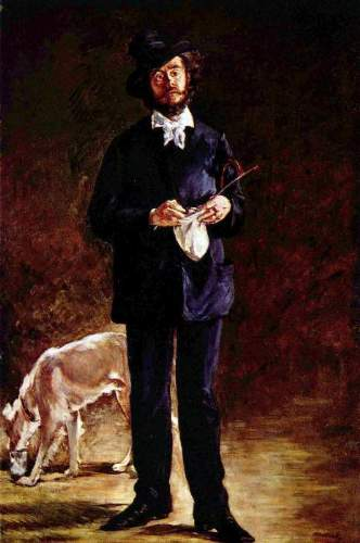 Monet - Portrait of Gilbert-Marcellin Desboutin