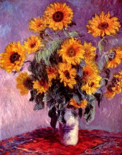 Still life, sunflowers