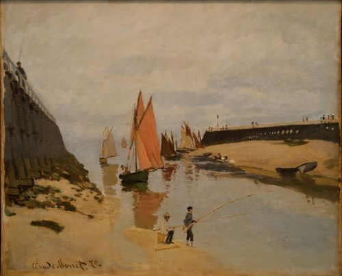 The harbor at Trouville