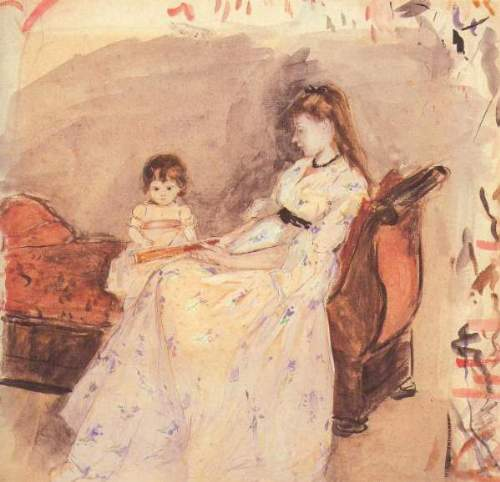 Morisot - Edma, the sister of the artist with her daughter