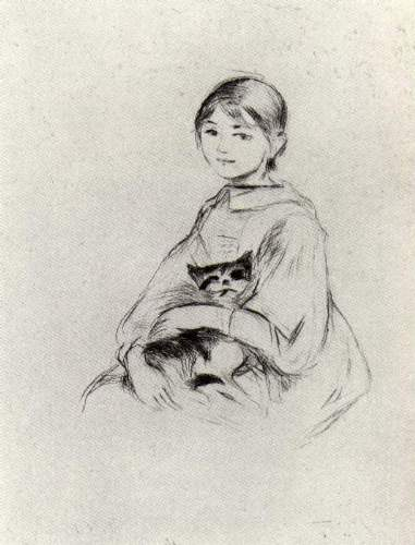 Morisot - Girl with a Cat