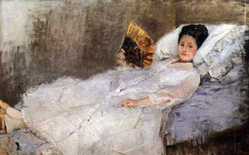 Morisot - Portrait of Madame Hubard