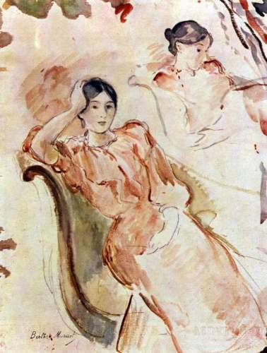 Morisot - Portrait studies of Jeanne Pontillon