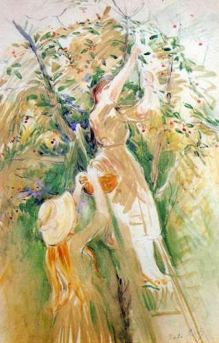 Morisot - The Cherry Tree, study