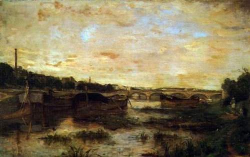 Morisot - The Seine beneath the Pont d'lena