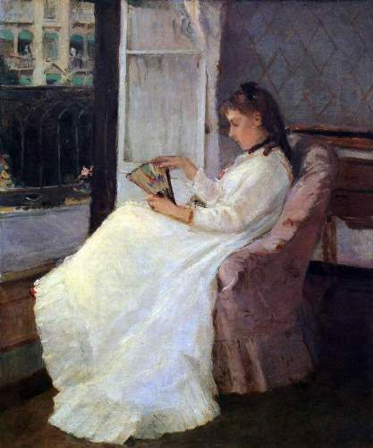 Morisot - The sister of the artist at a window