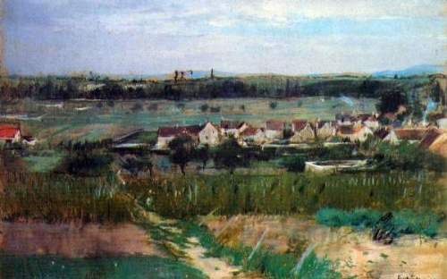 Morisot - The village at Maurecourt