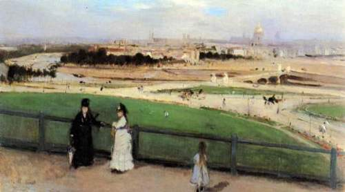 Morisot - View of Paris from Trocadero