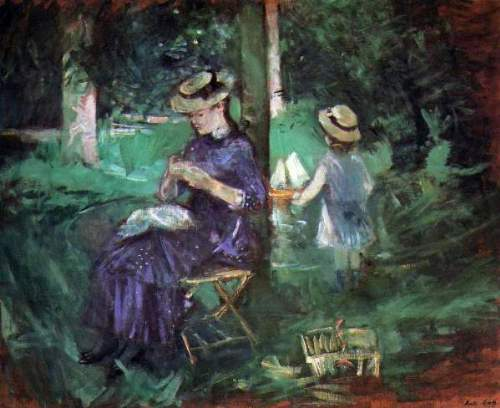 Morisot - Woman and child in Garden
