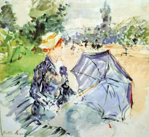 Morisot - Woman with Parasol sitting in the park
