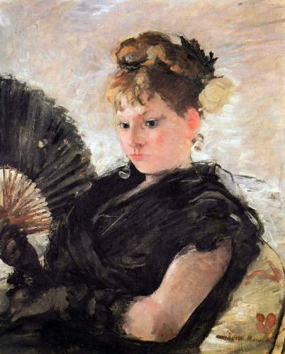 Morisot - Woman with subjects (head of a girl)