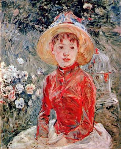 Morisot - Young girl with cage