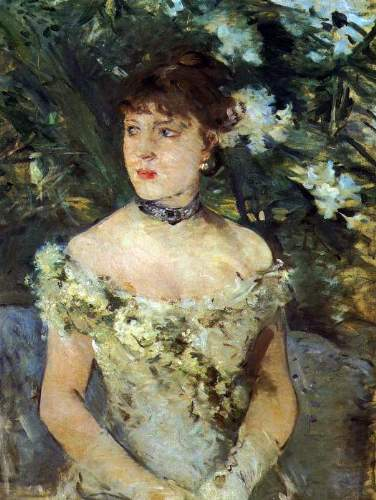 Morisot - Young woman in a costume ball