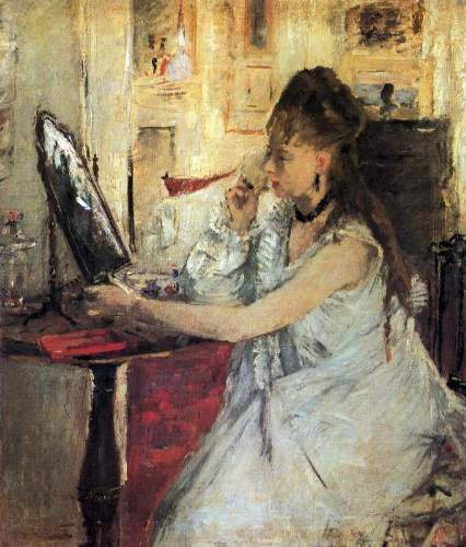 Morisot - Young woman powdering her face