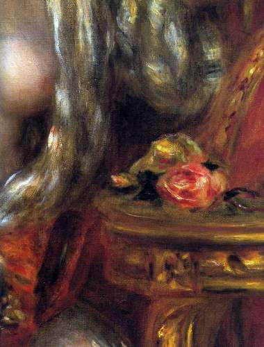 Renoir - Gabrielle with jewels, detail