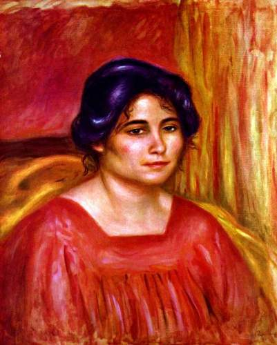 Renoir - Gabrielle with red blouse