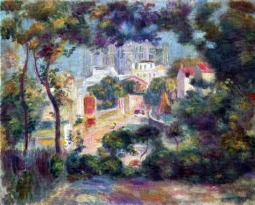 Renoir - Landscape with a view of the Sacred Heart