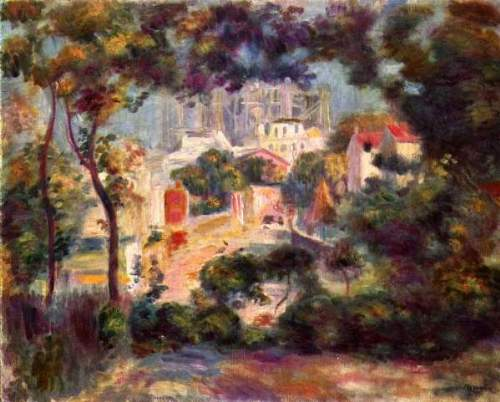 Renoir - Landscape with the view of Sacre Coeur