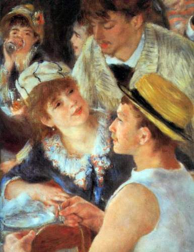Renoir - Lunch on the boat party, detail