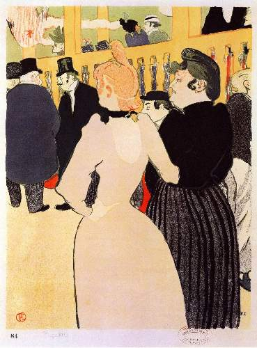 Toulouse-Lautrec - At the Moulin Rouge, la Goulue and her sister