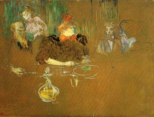 Toulouse-Lautrec - At the table