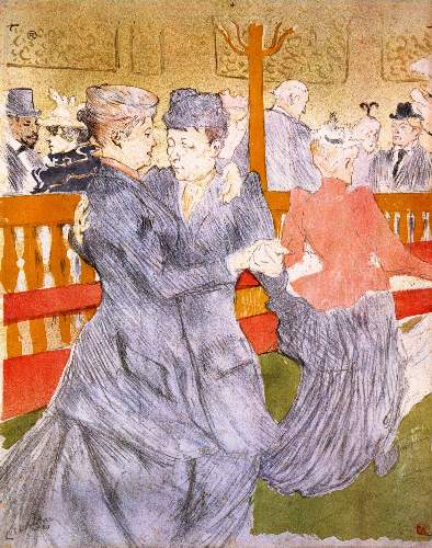 Toulouse-Lautrec - Dancing at the Moulin Rouge