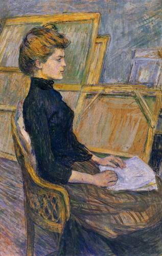 Toulouse-Lautrec - Helene Vary in the study
