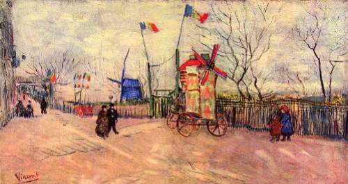 Street scene in the Montmartre
