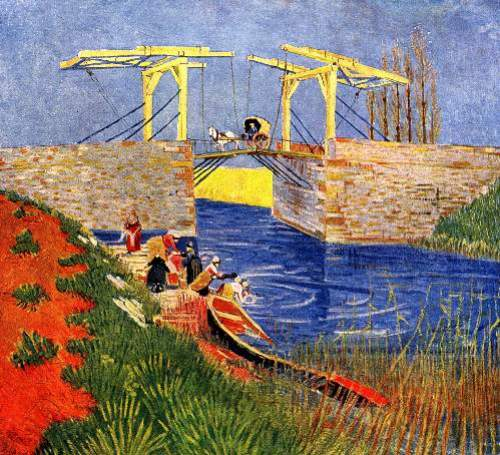 The Langlois Bridge at Arles with Women
