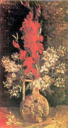 Vase with Gladiolas and Carnations