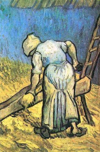 Van Gogh - A farmer cutting hay
