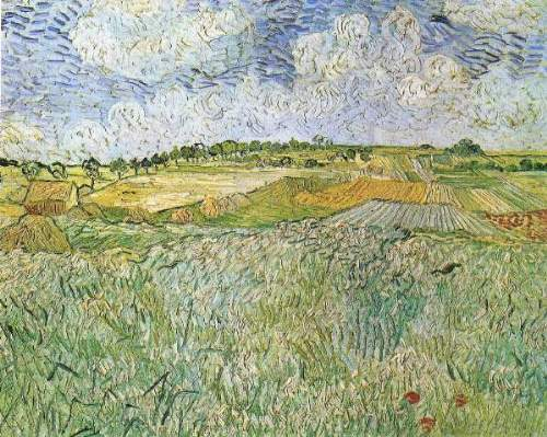 Van Gogh - Auvers with rain clouds