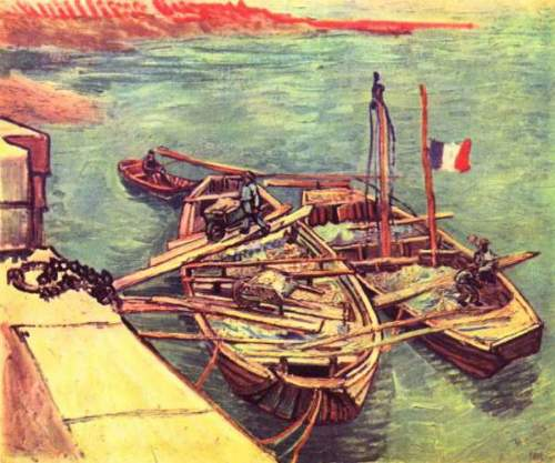Van Gogh - Boats with sand