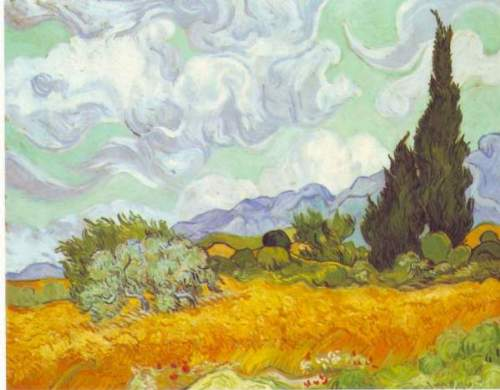 Van Gogh - Cornfield with Cyprusses