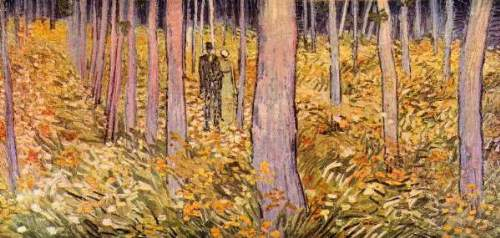Van Gogh - Couple walk in the woods