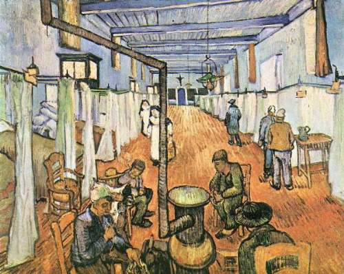 Van Gogh - Dormitory in the Hospital in Arles