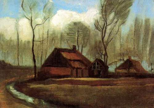 Van Gogh - Farmhouses Among Trees