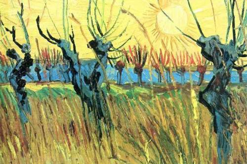 Van Gogh - Grazing at sunset
