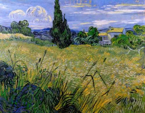 Van Gogh - Green wheat field with cypress