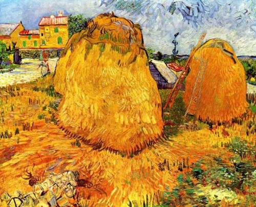 Van Gogh - Haystacks in Provence2