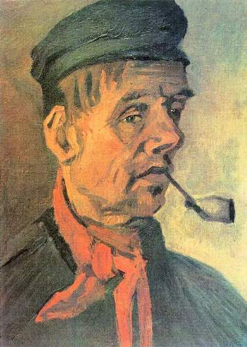 Van Gogh - Head of a farmer with a clay pipe