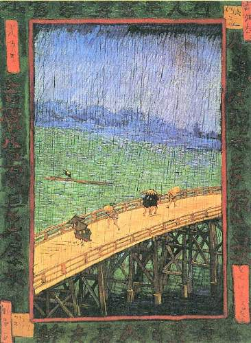 Van Gogh - Japanese Bridge in the Rain (after Hiroshige)