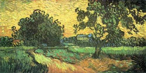 Van Gogh - Landscape with Castle Auvers at Sunset
