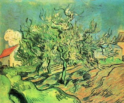 Van Gogh - Landscape with three trees and houses