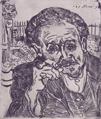 Van Gogh - Man with pipe (Portrait of Dr. Gachet)