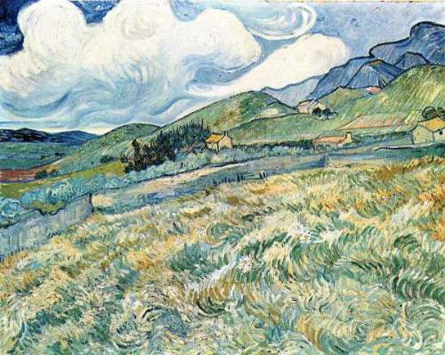 Van Gogh - Mountain landscape behind the Hospital Saint-Paul